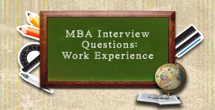 work experience interview questions