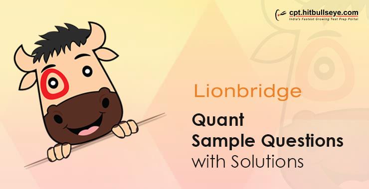 Lion Bridge Aptitude Questions | Aptitude Test For Lion Bridge