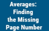 Averages: Finding the Missing Page Number