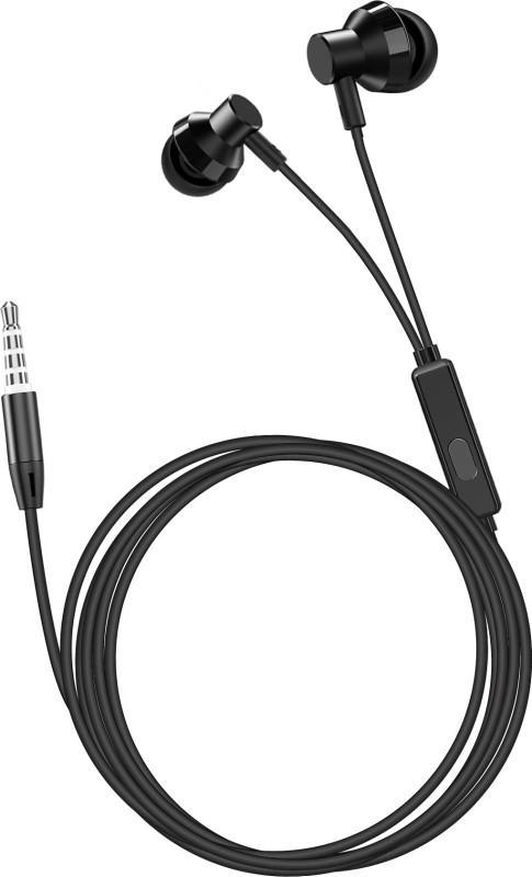 flix (Beetel) Tone 110 Wired Headset(Black, In the Ear)