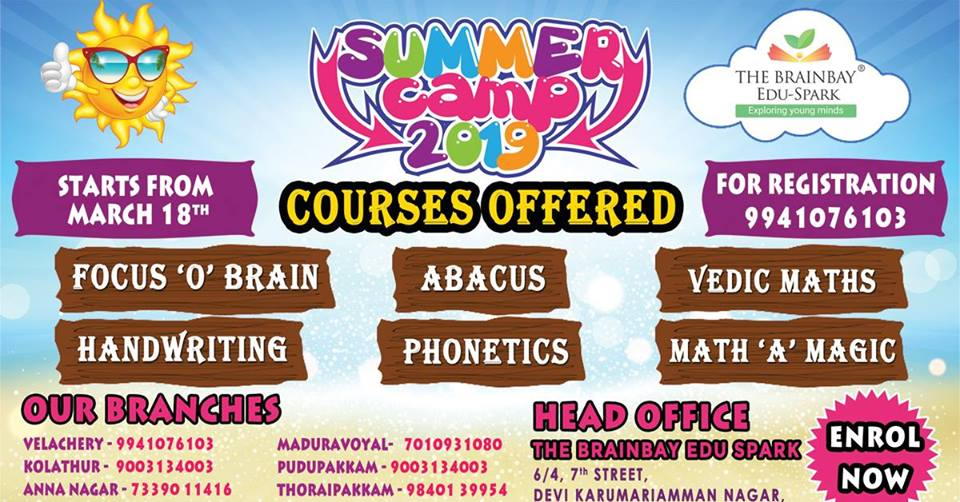 Summer Classes Chennai 2019