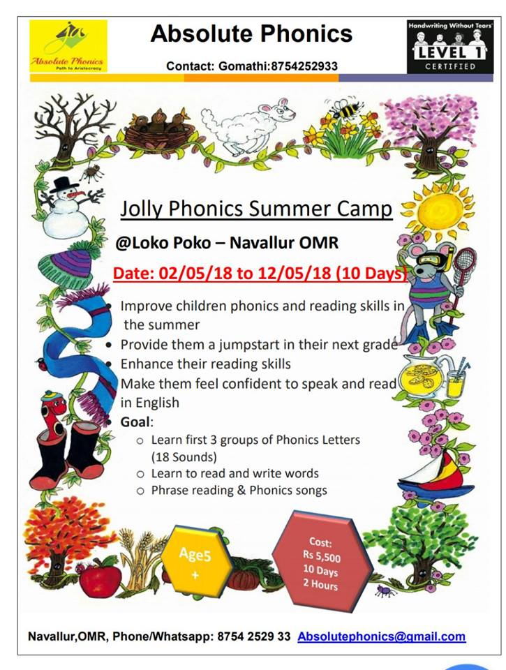 Jolly Phonics Summer Camp-Academics-OMR | SchoolConnects