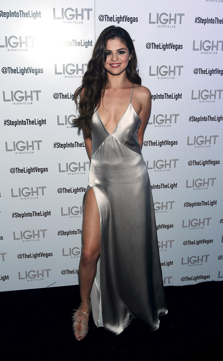 LAS VEGAS, NV - MAY 06: Selena Gomez arrives at her official Revival Tour kick off after party at Light Nightclub at Mandalay Bay Hotel and Casino on May 06, 2016 in Las Vegas, Nevada. (Photo by Denise Truscello/WireImage )