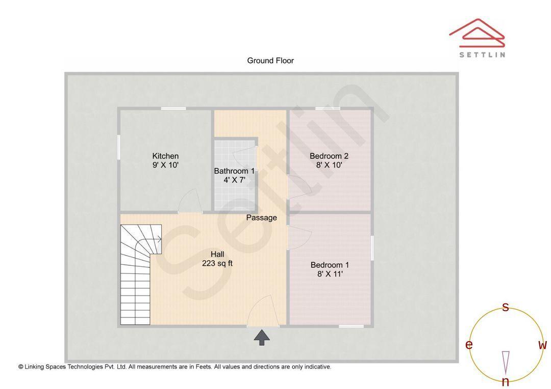 Lower Basement Unit 1 Floorplan