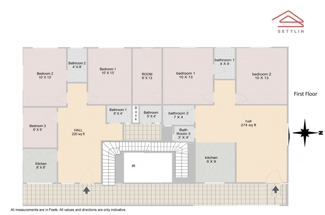 Floor 1 Unit 1 Floorplan