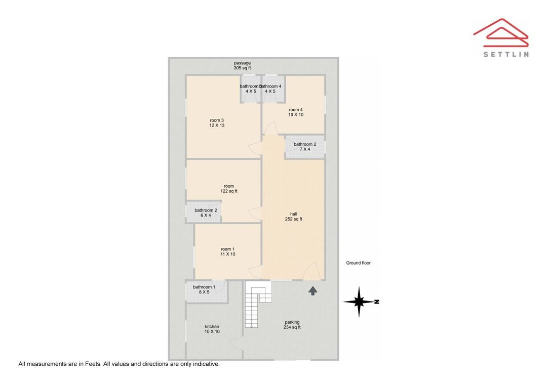 G. Floor Unit 1 Floorplan