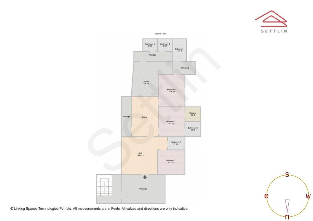 Floor 2 Unit 1 Floorplan