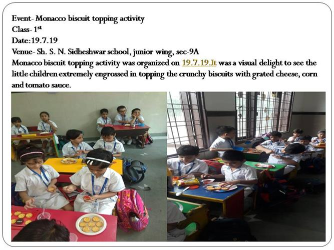 Monacco biscuit topping activity(class-1st)