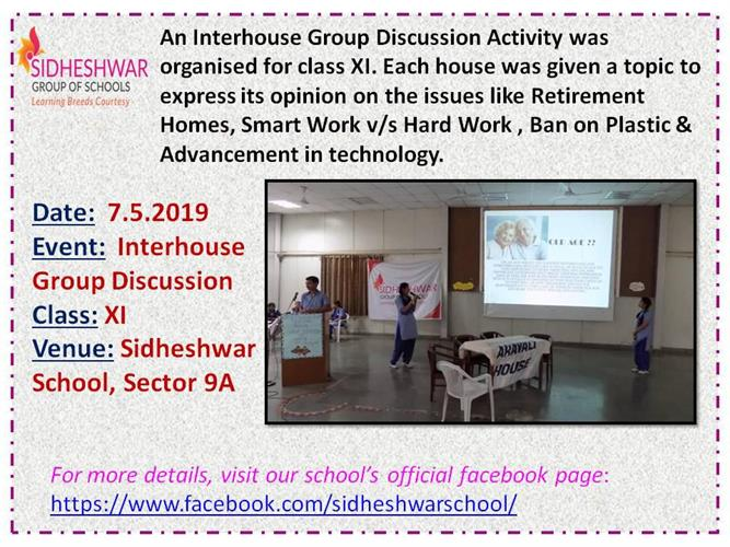 Inter House Group Discussion