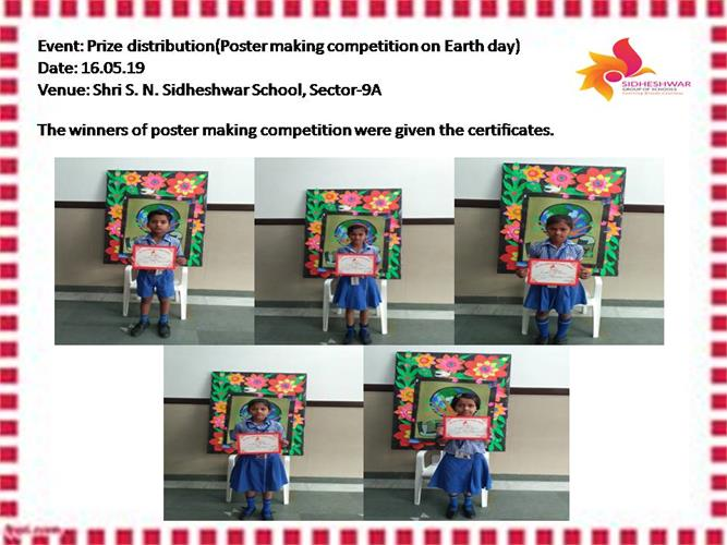 Prize Distribution(Poster making competition on Earth Day)