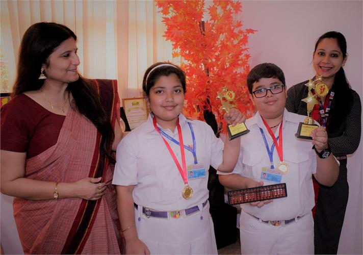 DELHI CHAMPS IN ABACUS Mathematics competition