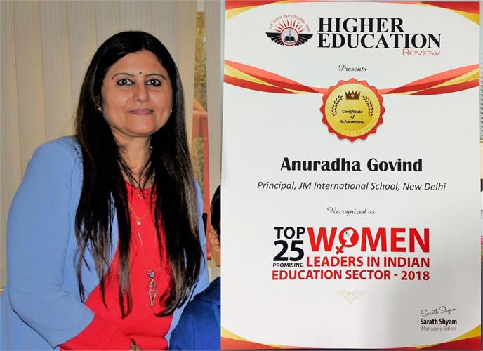 Principal MS.Anuradha Govind is recognised as one of the
