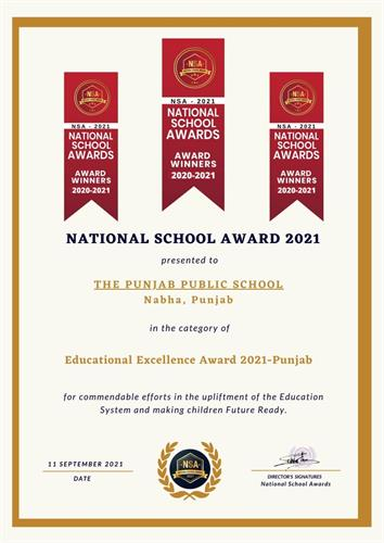 PPS bags Educational Excellence Award; Mr Ajay Singh recognized for commendable contribution in education