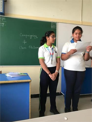 Mock Elections by Class 8