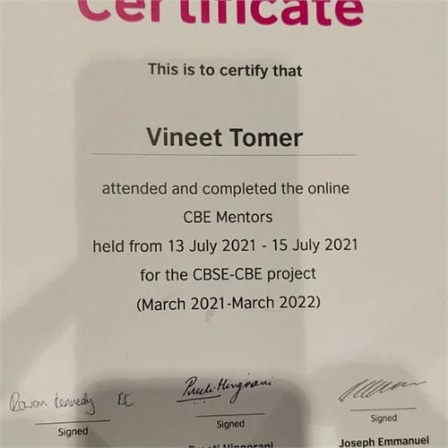 CBSE CBE Mentor Training by the British Council and Cambridge University