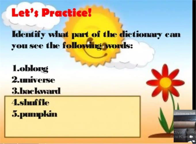 Dictionary Drill