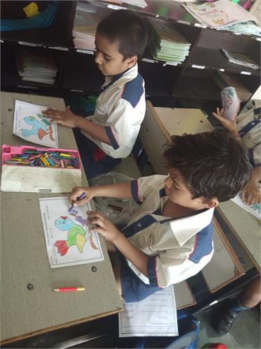 Stained Glass Drawing Activity Grade II-III