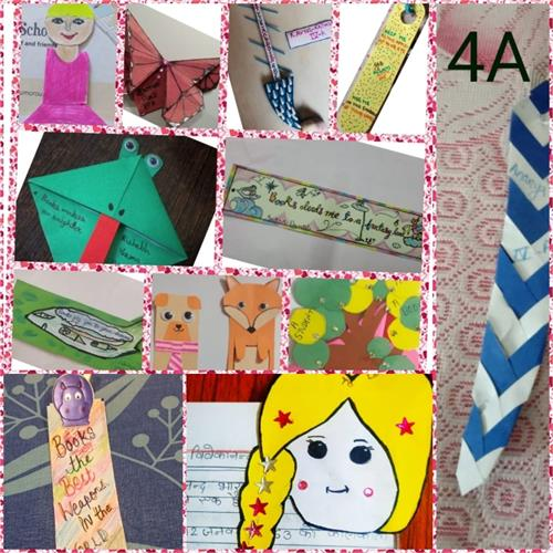 BOOKMARK MAKING ACTIVITY:  CLASS IV  (15.07.2020)