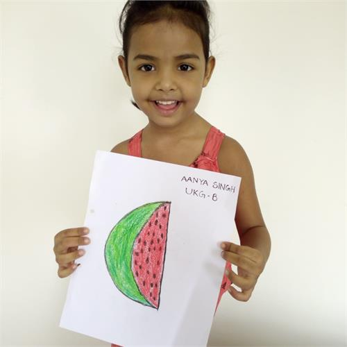 WATERMELON PARTY IN MY LIVING ROOM - CLASS UKG (24 JULY 2020)