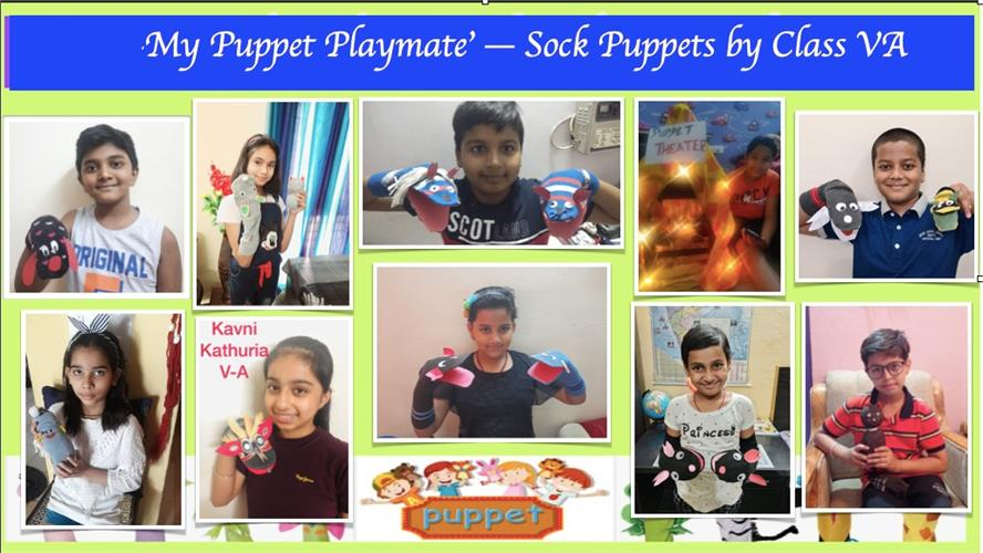 `PUPPET PLAYMATE`-SOCK PUPPET MAKING ACTIVITY-CLASS V (03-06 MAY 2021)