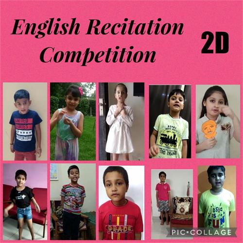 ENGLISH POEM RECITATION COMPETITION CLASS II (27 JULY 2021)