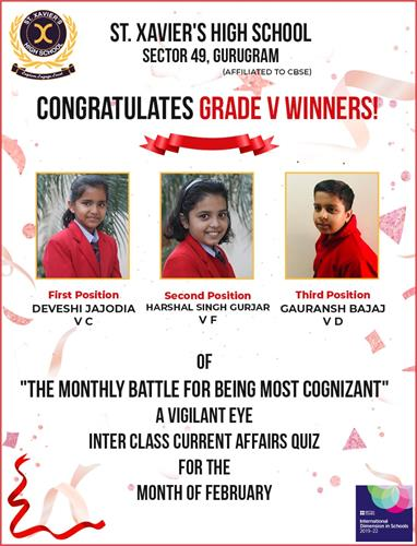Monthly Quiz on Current Affairs