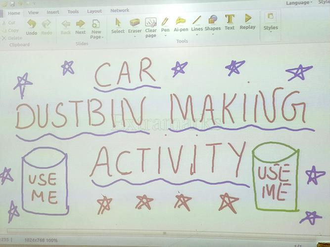 Car Dustbin Making Activity