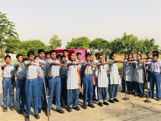 Assembly by Class IX on 9.05.19