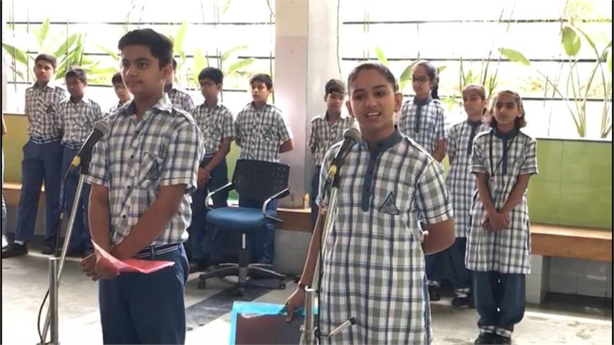 Assembly by Class VIII on 16.05.2019