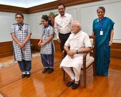 Rakshabandhan Celebrations with the Prime Minister