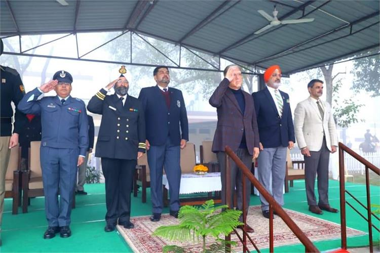 Mr Suman Kant Munjal (S-165, Batch -1969) presides over the 71st Republic Day Celebrations at PPS!
