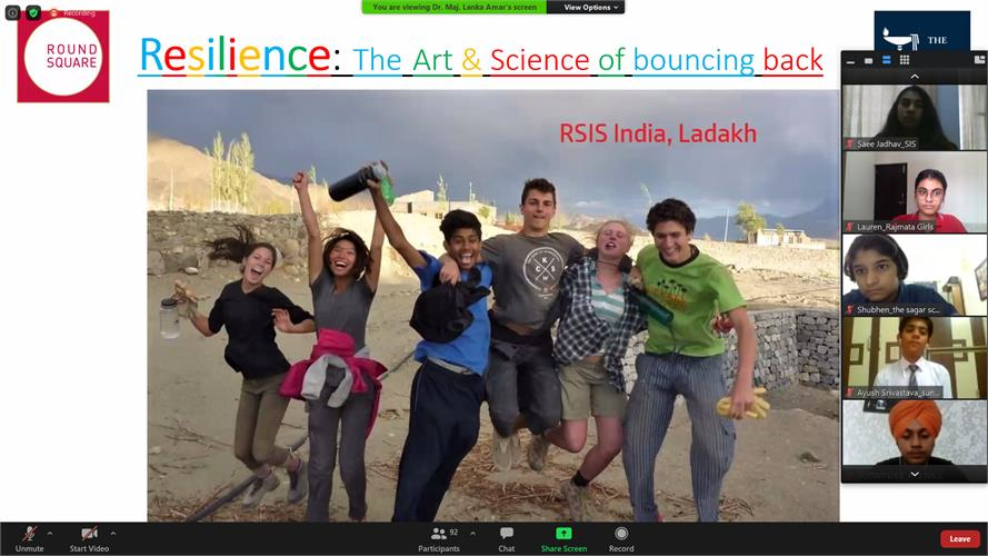 Resilience– the Courage to Bounce Back - Hosted by The Doon School, India