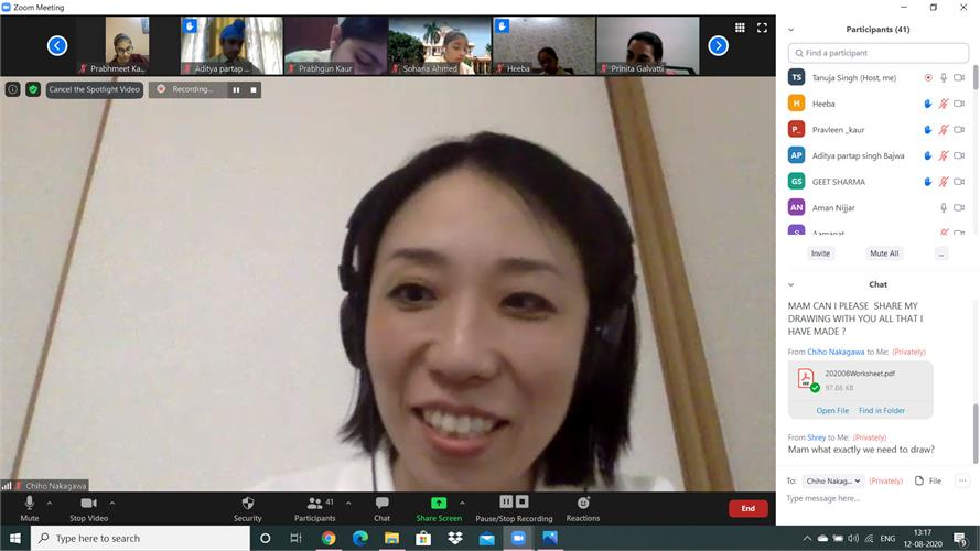 Ms Chiho connects from Tokyo Talks perception and peace
