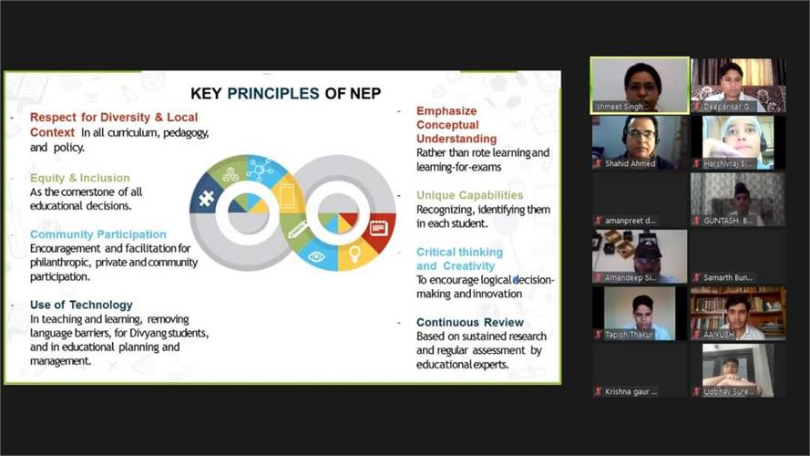 Webinar on NEP by NCC Division