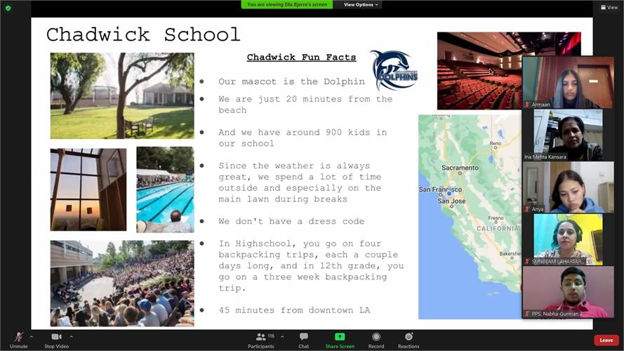RS Postcard Session hosted by The Athenian School and Chadwick School, California, USA