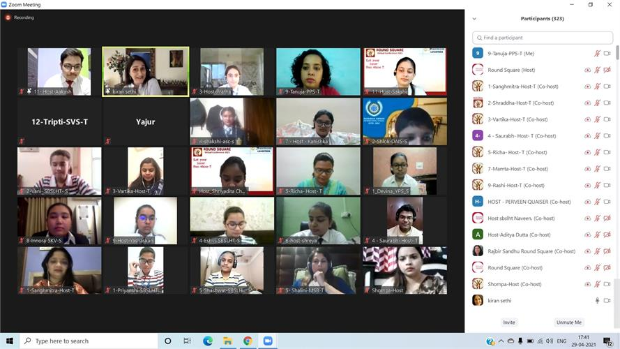"""Round Square Virtual Conference at Sunbeam School Lahartara– """"Let Your Inner Sun Shine"""""""