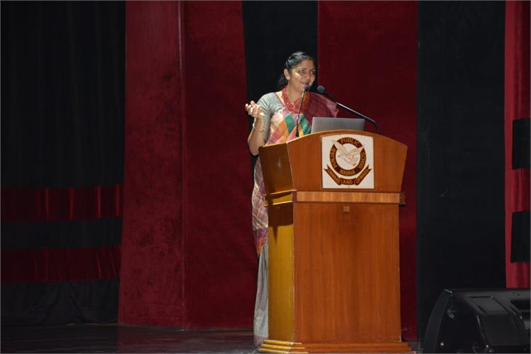 Lt Col Manmohinder Kaur motivates girls to join armed forces
