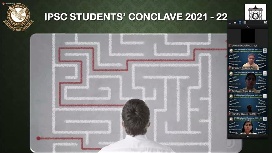 PPS organises online IPSC Students' Conclave