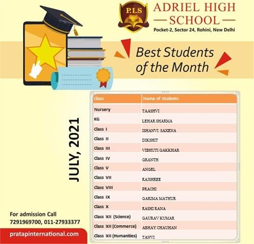 Best student of the Month