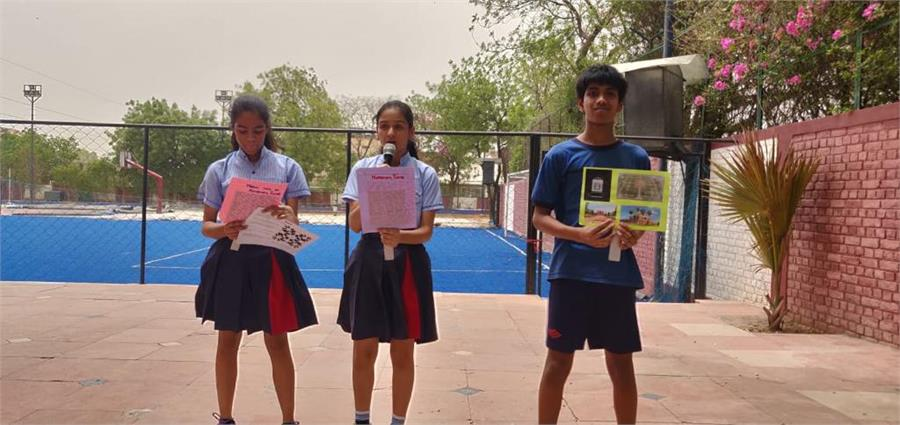 Maths in Monuments Activity by class 9 A B & C on 12th July 2019