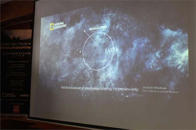 CHANDRAYAAN 2 LIVE SESSION - organisers National Geographic Channel for CLASS IX to XII