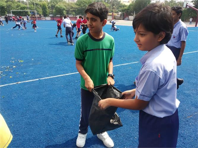Today Fit India Plogging Activity was done for Std. 7th & 8th in their Club period