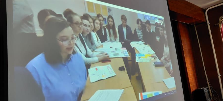 Skype session with school in Russia