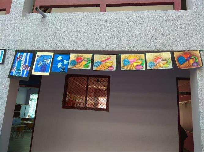 Art and Craft Exhibition on 28th Dec. 2019 - Classes 3 to 10