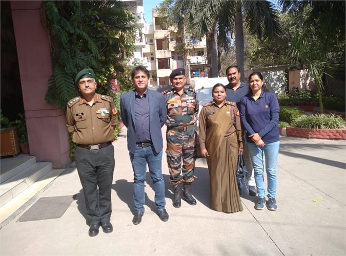 VISIT OF NCC COMMANDING OFFICER - 02.03.2021