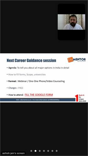 A Career-Counselling of Class 12th