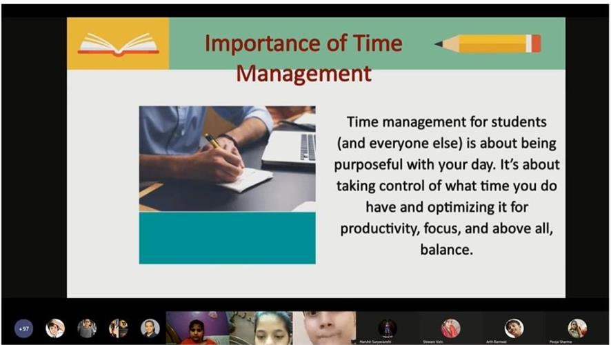 WORKSHOP ON HANDLING EXAMINATION ANXIETY AND TIME MANAGEMENT - 04.09.2021