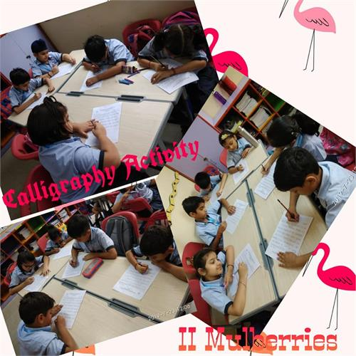 Class II: English Calligraphy Activity