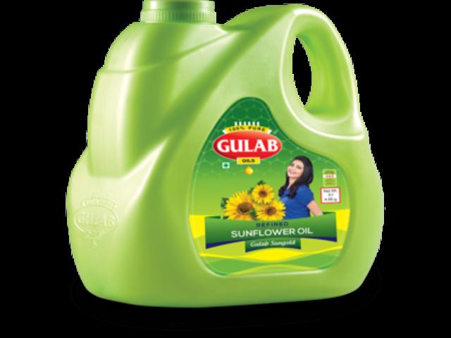 Sunflower Oil - Best Organic Sunflower Oil In India At Gulaboils - 1/2