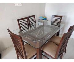 Glass Dining table set - Image 1/6